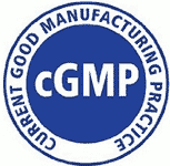 cGMP - Current Good Manufacturing Practice Compliant Logo