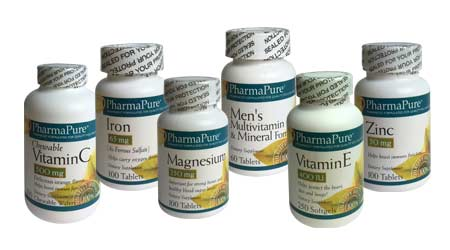 PharmaPure Vitamin Bottles Image